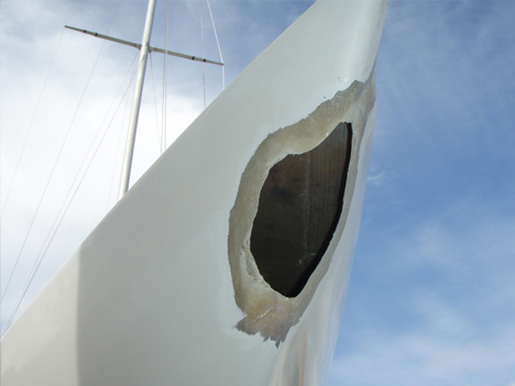 Structural fiberglass damage