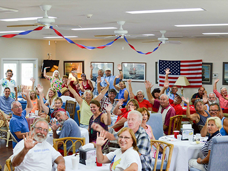 fourth of July party in yacht club