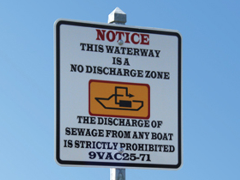 No discharge zone