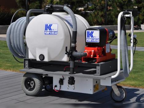 portable marina pump out cart