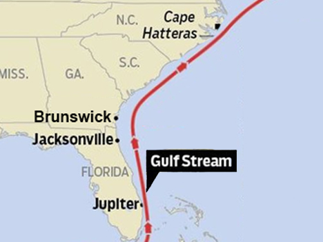 Map of Gulf Stream