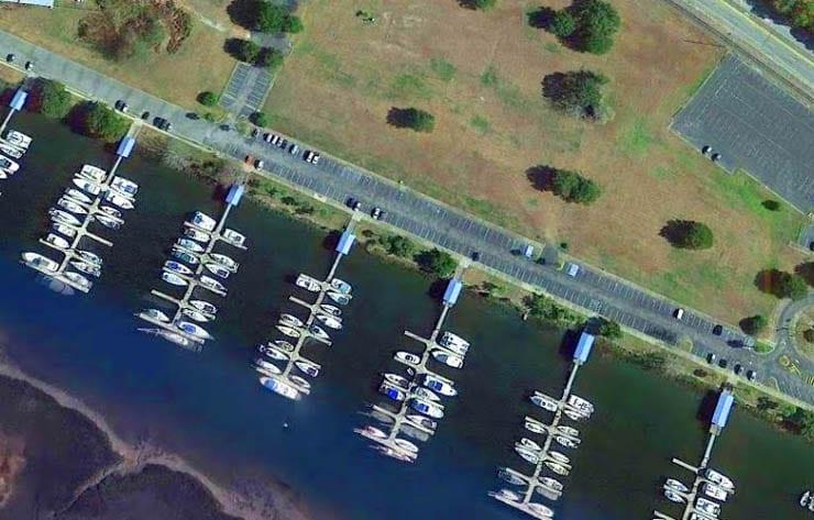 Easy parking at marina