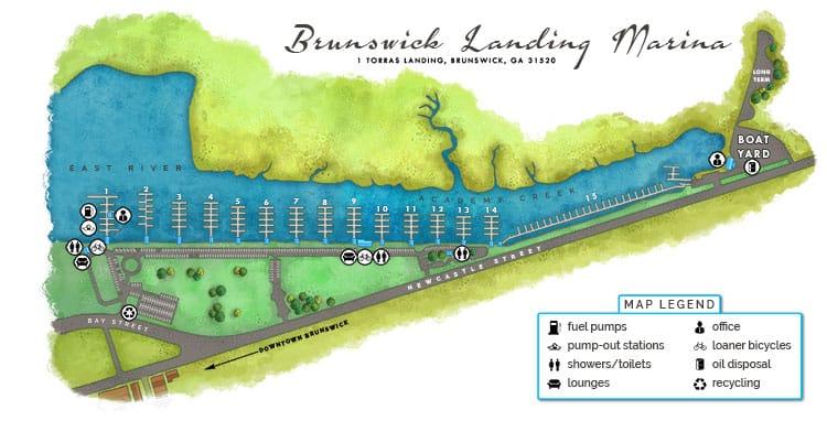 Map of Brunswick Landing Marina