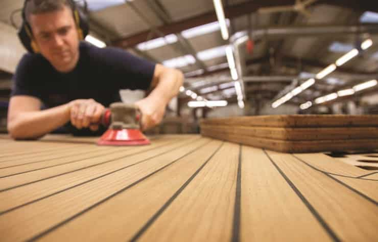 custom woodworking on boats
